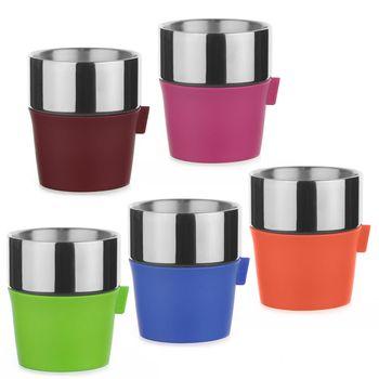 Driver 雙層咖啡杯350ml (五入組顏色隨機出貨)