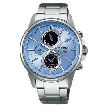 SEIKO 精工 SPIRIT 太陽能動力儲存計時碼錶-藍/41mm V198-0AC0B(SBPJ001J)