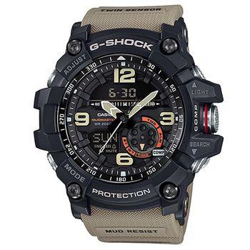 G-SHOCK 極限大陸雙傳感器防塵泥休閒運動錶 GG-1000-1A5