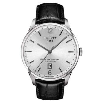 TISSOT 天梭 杜魯爾系列80小時動力機械腕錶-銀/42mm T0994071603700