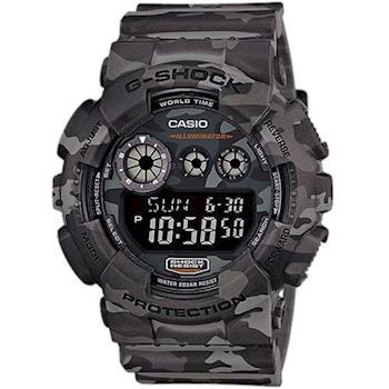 G-SHOCK 叢林迷彩戰鬥魂潮流炫風軍風休閒錶 GD-120CM-8