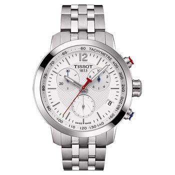 TISSOT T-Sport PRC200 NBA特別版計時腕錶-銀/42mm T0554171101701