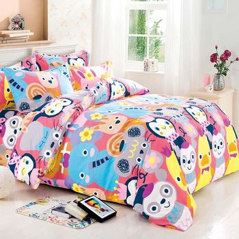 【FOCA-快樂假期】雙人-四件式全舖棉兩用被床包組