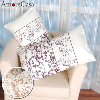 【AmoreCasa】綿柔感時尚美式薄枕套2入(2色可選)