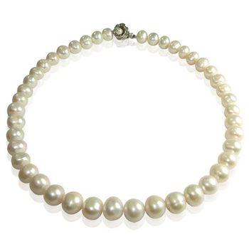 (小樂珠寶) 100%時髦魅力,耀眼奢華,甜美愛戀---頂級天然珍珠項鍊