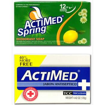 【艾迪美 ACTIMED】青春體香皂(113g)*12抗菌潔膚皂(125g)*12共24塊