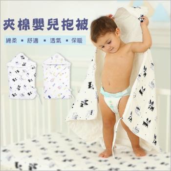 秋冬款加厚嬰兒純棉防踢被毯