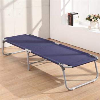 LOGIS 皮多納簡約帆布二折床 露營床 折合床看護床 陪伴床 二色【168】