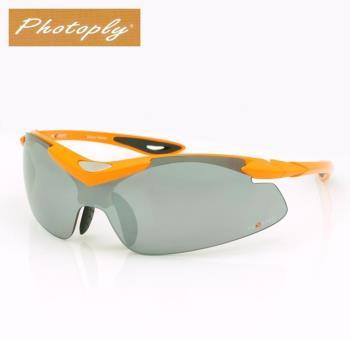 寶麗來 抗炫光運動太陽眼鏡鎧甲太陽眼鏡031(水銀鏡面)
