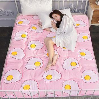 極細纖維磨毛單人床墊組 (床墊/地墊/和室/客廳) 蛋黃君