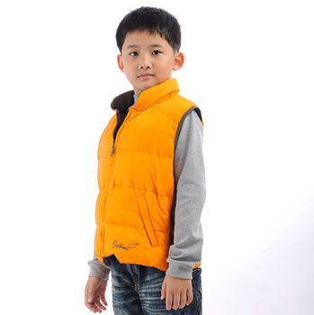 【FOX FRIEND】中性款式 兒童羽絨背心 雙面穿(0125)