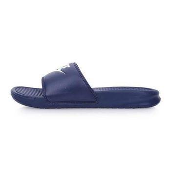 【NIKE】BENASSI JDI 男運動拖鞋-休閒 沙灘 海邊 丈青白
