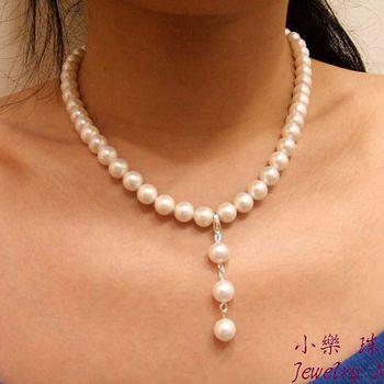 小樂浪漫柔情頂級南洋貝珠項鍊--強力主打名媛千金感‧氣質100%,輕柔唯美