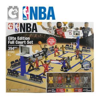 【C3 TOYS】超可動積木人偶NBA系列-精英球員全場套組 21542