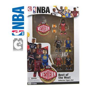 【C3 TOYS】超可動積木人偶NBA系列-明星球員5入套組 西區 21544