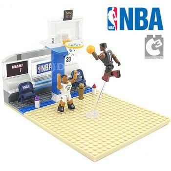 【C3 TOYS】超可動積木人偶NBA系列-一對一半場套組 戴維斯VS波許 21539