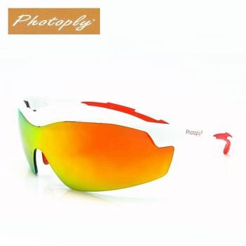 台灣品牌Photoply寶麗來防風系列 Wind太空防爆太陽眼鏡 ( 白色鏡框+抗IR鏡片 )