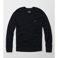 A  F 2017男時尚小麋鹿羊毛混紡寶藍色圓領長袖毛衣(預購)