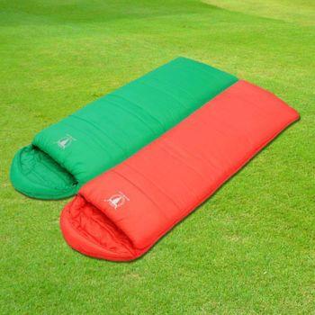 【APC】馬卡龍全開式睡袋 (2入組) 紅配綠-2色可選