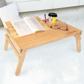LIFECODE《小幫手》橡木筆記型電腦桌/休閒桌