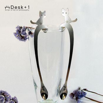 【Desk+1】貓攪攪拌匙 - 長短腳之戀四入組