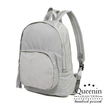 DF Queenin日韓 - 韓版輕質尼龍後背包-共3色