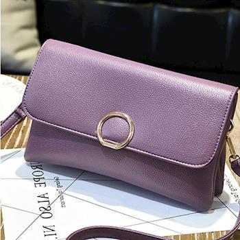 【L.Elegant】 韓版時尚信封雙層手拿肩背斜跨包 (共二色)