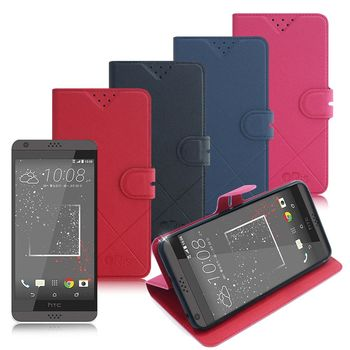 iRis HTC Desire 530 / Desire 626 亮紋磨砂側翻支架皮套