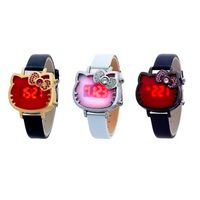 【HELLO KITTY】奢華時尚LED晶鑽腕錶(正版授權)