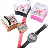 【HELLO KITTY】全球限量 珍珠母貝晶鑽腕錶(正版授權)