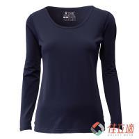 佳立適 女U領升溫蓄熱保暖衣-藍 (採用3M吸濕排汗技術)