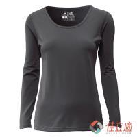 佳立適 女款U領升溫蓄熱保暖衣-+灰色(採用3M吸濕快排原紗)