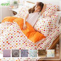【eyah宜雅】全程台灣製100%精梳棉單人床包二件組-日式普普風(多色可選)