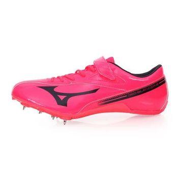 【MIZUNO】GEO SILENCER 8 男女田徑釘鞋-競賽 短距離 美津濃 桃紅黑