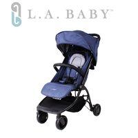 【美國 L.A. Baby】 旅行摺疊嬰兒手推車-牛仔色