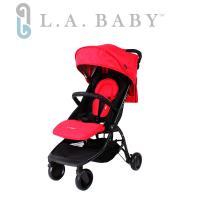 【美國 L.A. Baby】 旅行摺疊嬰兒手推車-紅色