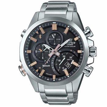 【CASIO】EDIFICE 全新首款金屬藍牙智慧型指針腕錶 EQB-500D-1A2