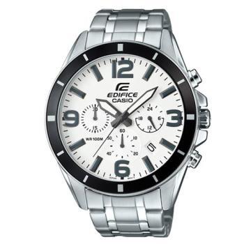 【CASIO】EDIFICE 大型數字簡約立體指針腕錶 EFR-553D-7B
