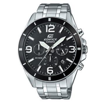 【CASIO】EDIFICE 大型數字簡約立體指針腕錶 EFR-553D-1B