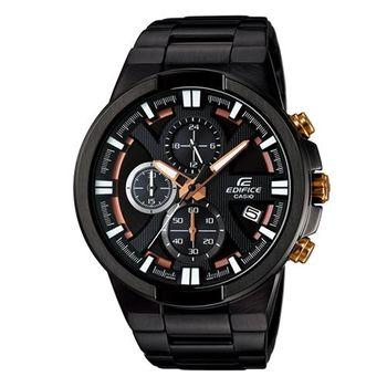 EDIFICE 新時代流線感零件組運動風腕錶 EFR-544BK-1A9