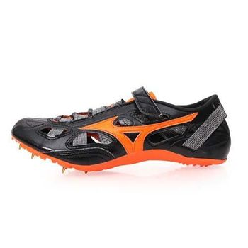 【MIZUNO】CHRONO INX 9-男女日製田徑釘鞋-短距離 附鞋袋 黑橘