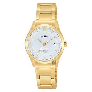 ALBA 時尚東京限定石英女錶-銀x金/28mm VJ22-X242G(AH7L70X1)