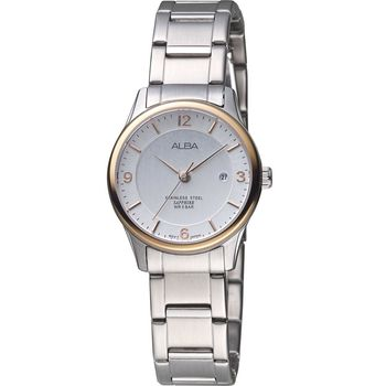 ALBA 雅柏 時尚簡約都會女錶 VJ22-X243KS 玫瑰金框 AH7M20X1