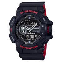 CASIO 卡西歐 G-SHOCK 特別版重機雙顯錶-黑紅 GA-400HR-1ADR