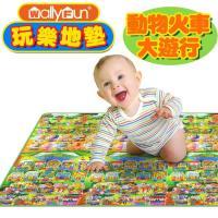 【Wally Fun】 嬰兒玩樂爬行墊 (動物火車大遊行)