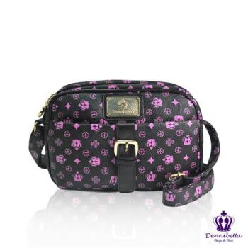 Dennibella 丹妮貝拉 -紫色皇冠時尚質感小方包