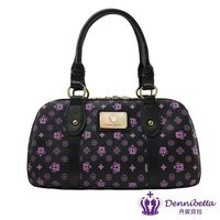 Dennibella 丹妮貝拉 -紫色皇冠時尚雙鍊優雅提包