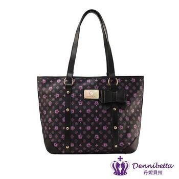 Dennibella 丹妮貝拉 - 紫色皇冠時尚蝴蝶結鉚釘包