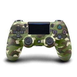 PS4原廠DS4 光條觸碰板 無線震動手把-迷彩綠(CUH-ZCT2G16)