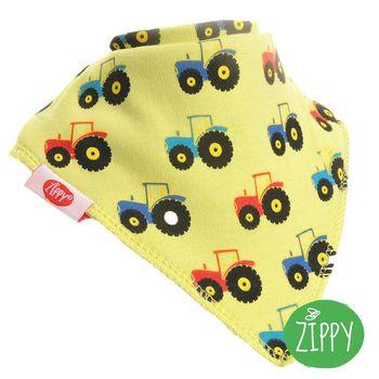 英國Zippy-幼兒時尚口水巾-黃拖拉機